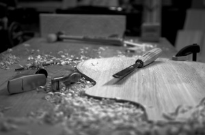 Top, tools, shavings